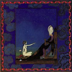 The Sultan and Scheherazade, Arabian Nights - Kay Nielsen, one of my favorite illustrators
