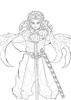 Anime Drawings Sketches, Anime Sketch, Cute Drawings, Demon Slayer, Slayer Anime, Otaku Anime, Manga Anime, Anime Lineart, Anime Character Drawing
