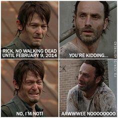 The Walking Dead fans definitely need a break after last nights mid season finale!!!