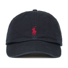 Polo Ralph Lauren Men's Classic Sports Cap - Black ($37) ❤ liked on Polyvore featuring men's fashion, men's accessories, men's hats, mens sport hats, mens sports caps, mens caps and mens hats