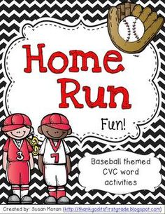 Home Run Fun! {Baseball-themed CVC word activities}