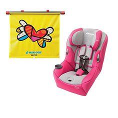 Maxi Cosi Pria 85 Convertible Car Seat, Passionate Pink With BRITTO Heart Sunshade