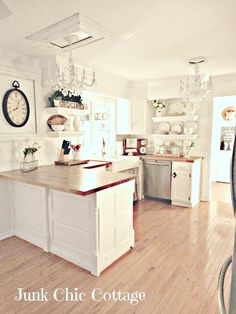 Junk Chic Cottage: Finally The Kitchen Reveal!!! Yeah!!!!
