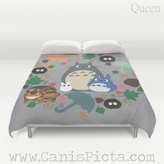 Duvet Cover Totoro Kawaii My Neighbor QUEEN KING by CanisPicta