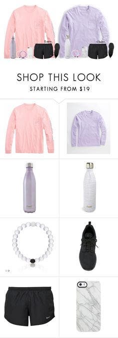 """Lucy & Claire [fitness]"" by classicallyclaire ❤ liked on Polyvore featuring Vineyard Vines, S'well, Champion, NIKE, Uncommon and Native Union"