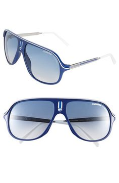 Carrera Eyewear 'Safari' Polarized Aviator Sunglasses- gotta love glasses with my last name on them!