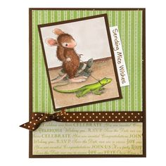 Reptile Walk Card by Jennie Lin Black