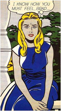 Wearing that little Yves Klein dress    Roy Lichtenstein