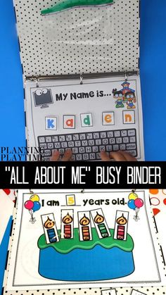 All About Me Activity Binder