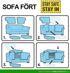 Safest sofa fort