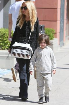 Rachel Zoe with her son Skyler spotted outside Go Greek Yoghurt in Beverly Hills on April 25, 2016