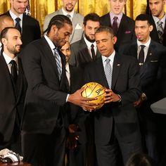 Kawhi Leonard / President Obama