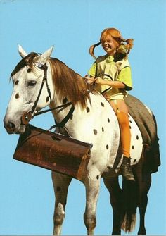 Pippi Longstocking by Astrid Lindgren Pippi Longstocking, Horse Costumes, Halloween Costumes, Sea Monsters, Through The Looking Glass, Classic Tv, Old Men, Pepsi, Vintage Posters