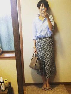 ユニクロシャツとZARAガウチョで大人女子知的シャツスタイル 8月8日