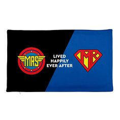 Wonder Woman & Superman Rectangular Pillow Case only  Lived