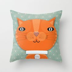Tabby Cat Throw Pillow by Silva Ware by Walter Silva - $20.00