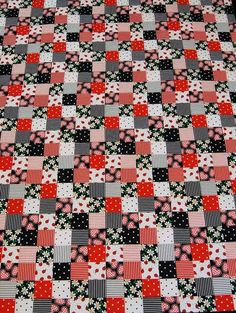 LADY BUG QUILT - Made by a local Black Mountain, NC quilter, the LADY BUG quilt…