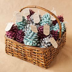 Hosting a winter wedding? Send guests off with something to warm their hearts and their hands. These pinecone fire-starters make the perfect warm and cozy wedding favor, plus they smell delicious, too! Get more information on this project at Something Turquoise./