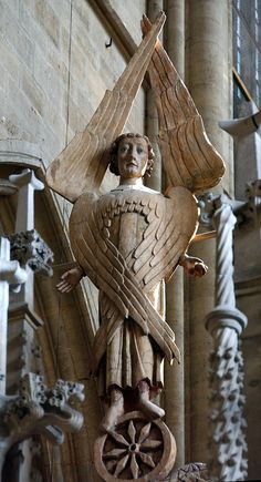 Interesting wood depiction of a seraphim in Halberstadt, Germany Angels Among Us, Angels And Demons, Seraph Angel, Angel Statues, Angels In Heaven, Saints, Angel Art, Sacred Art, Christen