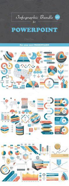 Infographic Bundle for Powerpoint Powerpoint 2010, Powerpoint Slide Designs, Powerpoint Format, Presentation Styles, Business Presentation, Presentation Templates, Ppt Design, Brand Book, Grafik Design
