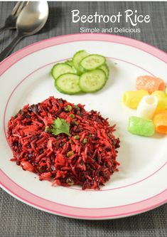 This is an easy and delicious recipe that can be prepared under 30 minutes. Lunch Box Recipes, Rice Recipes, Recipe 30, Curry Leaves, Beetroot, Risotto, Paradise, Easy Meals, Veggies