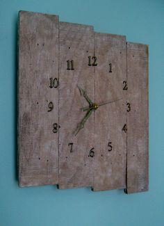 Wood Pallet Clock by PineTerraceTreasures on Etsy, $49.99