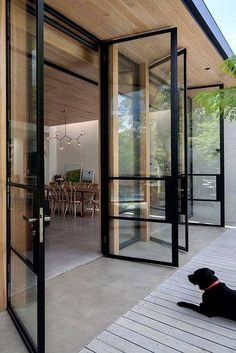 Guides to Choosing A Glass Door Design That'll Fit Your Hous.- Guides to Choosing A Glass Door Design That'll Fit Your House The Use of Glass Doors: 171 Modern Style Inspirations – Futurist Architecture - Door Design, Exterior Design, Glass House Design, Casa Patio, Deck Patio, Backyard, Design Case, Home Fashion, Future House