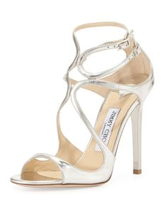 Jimmy Choo – Lance Metallic Strappy Sandals