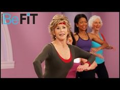 Jane Fonda: Fat-Burning Latin Dance Workout - YouTube (this one is kinda funny because it has real people in it that have prob never been in a workout video before)