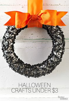 Your home doesn't need to be haunted to be creepy! Our ideas for Halloween wreaths, door decorations, and entryway accents are sure to give your porch spook-tastic flair for Halloween. Plus, get 30 more budget Halloween decorating ideas!