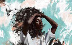 861 отметок «Нравится», 35 комментариев — Siena Summers (@sienasummersart) в Instagram: «New bright painting 🌵#art artist #boho #african #blue #stroke #painting #interior_design…»