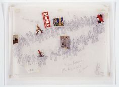 Francis Alÿs, Modern Procession (The Rehearsal) 2002 Graphite and collage on vellum 10 1/2 x 13 3/4 inches, 26.7 x 34.9 cm (image source: http://www.davidzwirner.com)