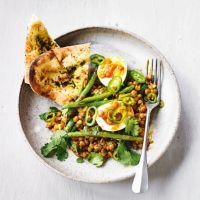 Lentil, eggs & green chilli masala Home Recipes, Dinner Recipes, Cooking Recipes, Green Chilli, Masala Recipe, Lentil Recipes, Curry Paste, Naan