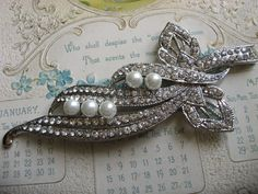 Blooming love Victorian pearls and rhinestone by weddingvalle, $28.99