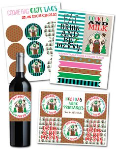 Items similar to Gingerbread House Holiday Printables on Etsy Christmas Cocktail Party, Christmas Cocktails, Holiday Parties, Holiday Decor, Christmas Party Invitations, Party In A Box, Holiday Cookies, Box Design, Gift Tags