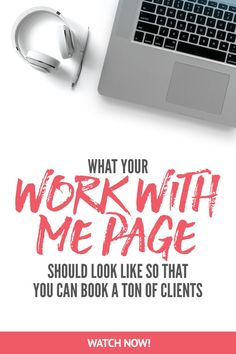 What your work with me page should look so that you can book clients without being there. NEW NEW NEW! Sign up for 5 days of free ass-kicking with the new challenge - Screw Feelings, Get Clients! Go here to join -> https://evolv.ly/screw-feelings