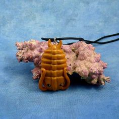 Brass Trilobite Necklace Handmade Polymer Clay Jewelry par Noadi,