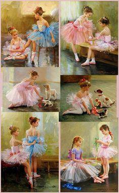 Dancing girl painting little ballerina ideas Art Ballet, Ballerina Painting, Painting Of Girl, Ballet Dancers, Ballerina Kunst, Little Ballerina, Dance Art, Girl Dancing, Dance Photography