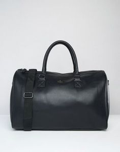 ASOS Carryall In Black With Gold Emboss