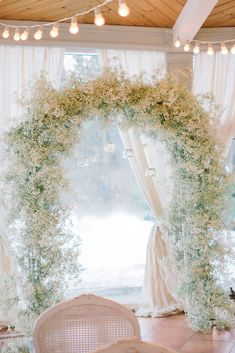 babys breath arch - Floral wedding decor ideas - Baby's breath wedding decor ideas - - wedding arch 10 Ways to Style Baby's Breath For The Wedding - KnotsVilla Winter Wedding Arch, Winter Wedding Ceremonies, Wedding Arch Flowers, Floral Wedding Decorations, Wedding Ceremony Arch, Wedding Centerpieces, Wedding Bouquets, Wedding Arches, Winter Weddings