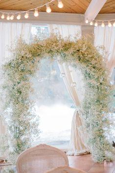 babys breath wedding ideas for bridal arch anastasia belik