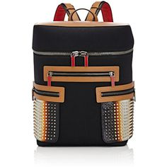 Christian Louboutin Men's Apoloubi Backpack ($2,250) ❤ liked on Polyvore featuring men's fashion, men's bags, men's backpacks, black, mens leather backpack and mens backpacks