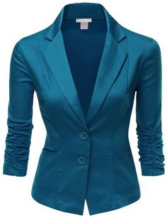 Doublju Women Cotton Span 3/4 Sleeve with Shirring Detail Blazer Teal Small Doublju http://www.amazon.com/dp/B00P5QH70K/ref=cm_sw_r_pi_dp_G71Kub0DKKP24