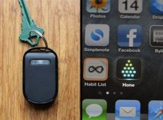 Keep track of your car keys with Hone. LOVE! @Nikki Visel This is for you!