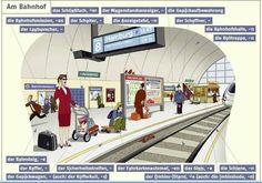 Am Bahnhof, deutsche Vokabeln (German vocabulary, train station)