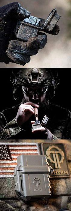 PyroVault Lighter Armor Housing accepts standard Zippo-style lighter inserts including both fluid and butane torch models. Perfect for EDC Everyday Carry. Survival Gadgets, Survival Gear, Tactical Life, Tactical Gear, Military Gear, Military Equipment, Hidden Gun Storage, Everyday Carry Gear, Shopping