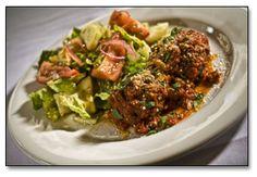 Viaggo's meatballs with romaine.  Ahhhh-mazing.