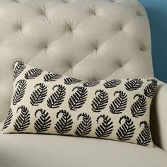 Hand-Blocked Silk Paisley Pillow Cover from WestElm.com. Love the nature-inspired motif and subtle colors :)