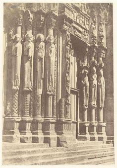 Charles Nègre | Portaal van de kathedraal van Chartres, Frankrijk, Charles Nègre, c. 1851 - c. 1854 |