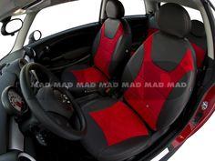 ALCANTARA® red + LEATHER LOOK anthrazit Maserati, Lamborghini, Porsche, Bmw, Red Leather, Baby Car Seats, Collection, Automobile, Porch
